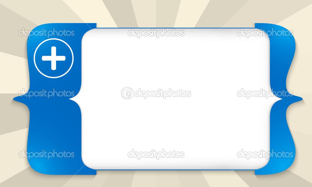 Vierkante Haken Voor Het Invoeren Van De Tekst Met Blauwe Plus
