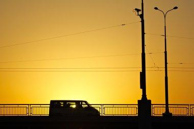Minibus on the bridge