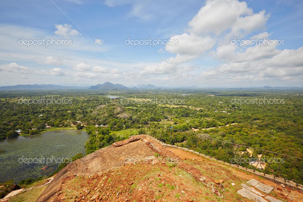 View from the top of Sigiriya in Sri Lanka. Sigiriya is on World Heritage Sites (UNESCO).