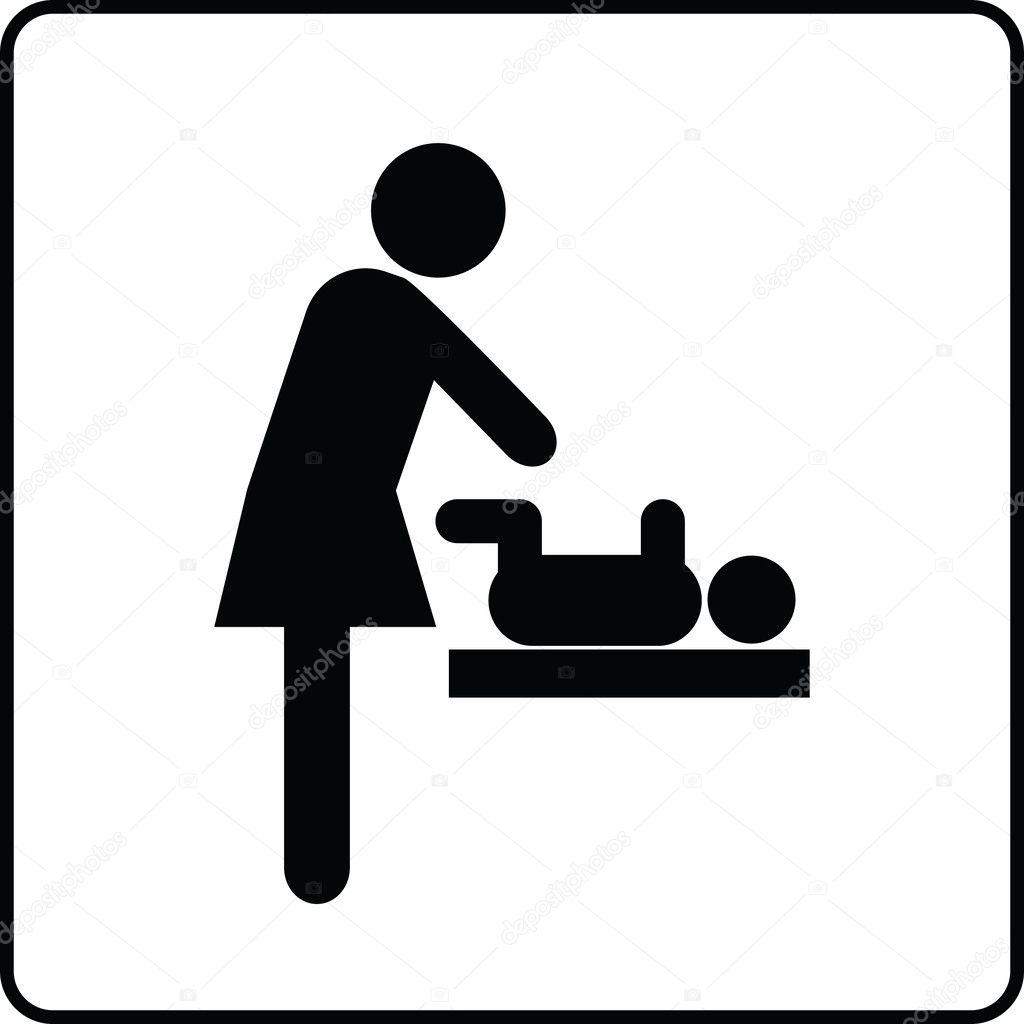 Baby Changing Room Sign  Stock Vector  Renatas76 35441377-1569