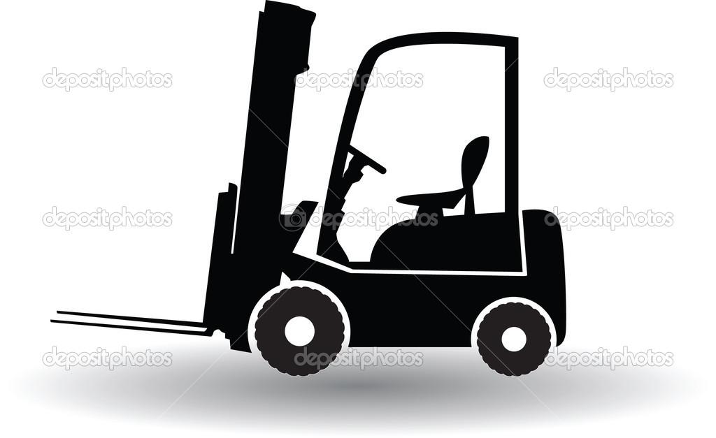 Forklift Truck Silhouette Stock Vector 169 Renatas76 42352097
