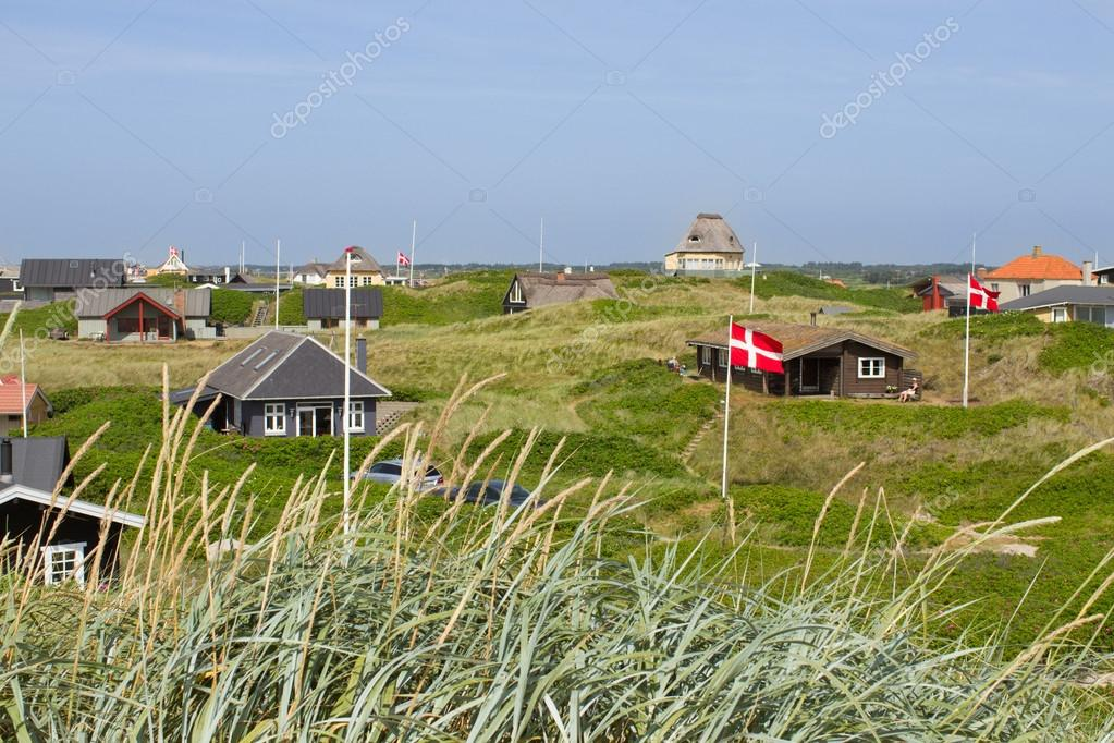 Summer houses at the North Sea