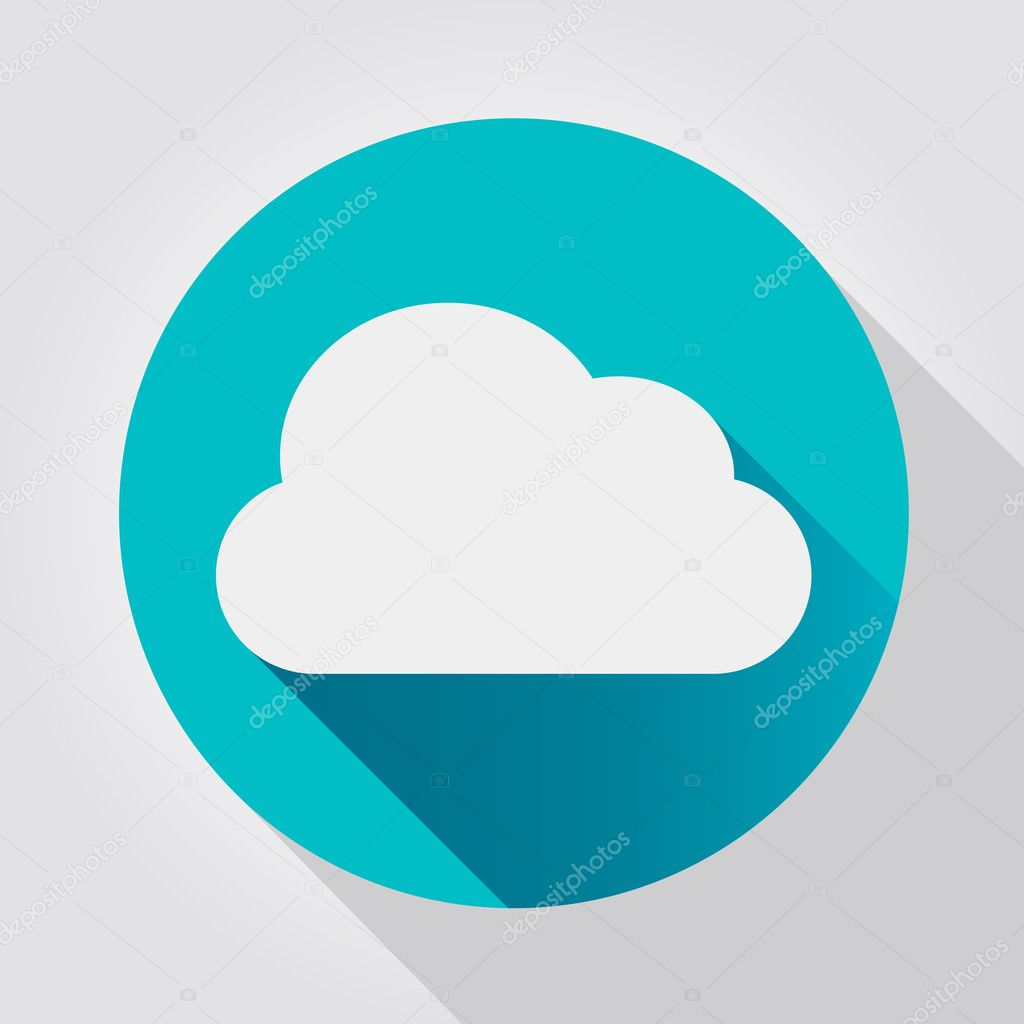 Cloud icon, flat design