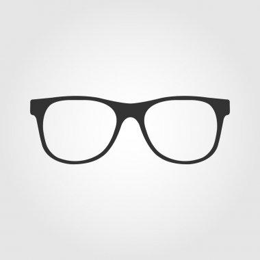 Vector. glasses icon, flat design stock vector
