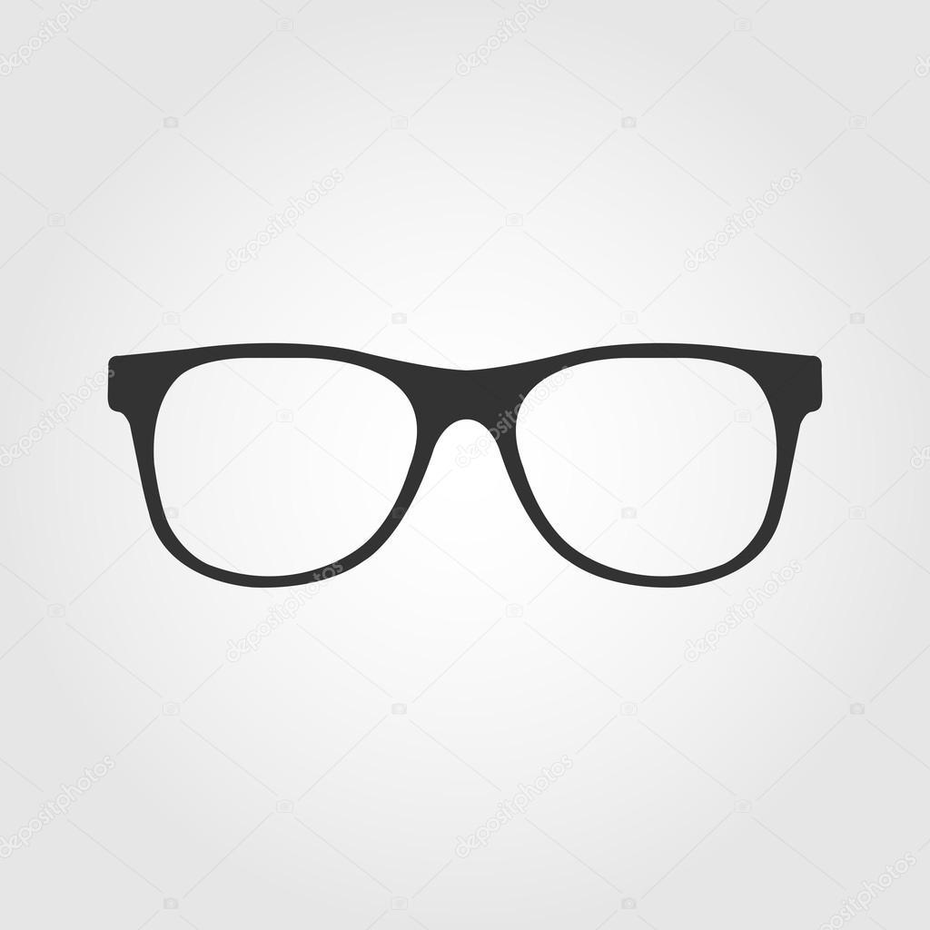 aeb21e6e855b4 ícone de óculos, design plano — Vetor de Stock © mixov  50713093