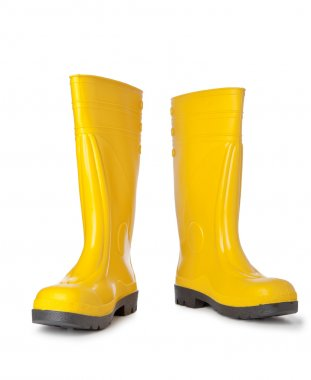 Two Yellow rubber boots