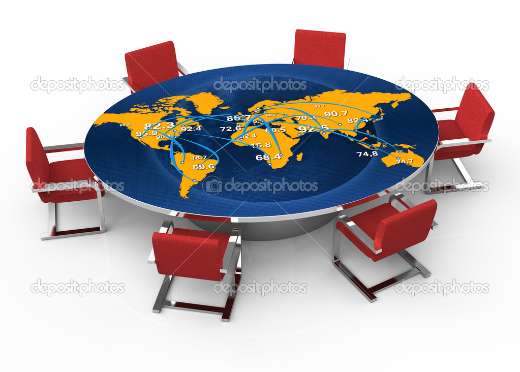 Round Conference Table Stock Photo Violka - 72 round conference table