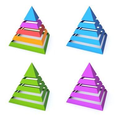 Four layered pyramids