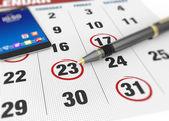 Mark on the calendar