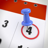 Kalendář a připínáček