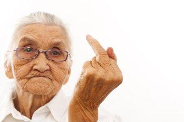 angry ol woman
