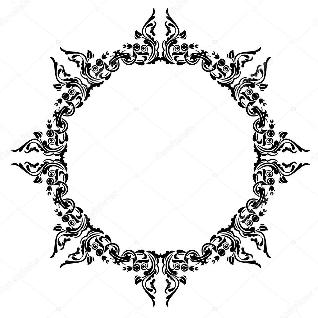 Antique oval frame — Stock Vector © Karunaine #23755623