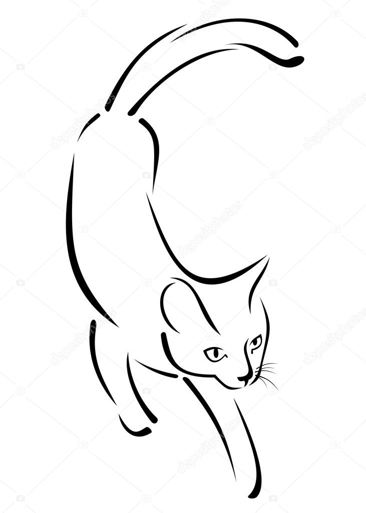 Immagine Stilizzata Di Un Gatto Vettoriali Stock Karunaine 42480729