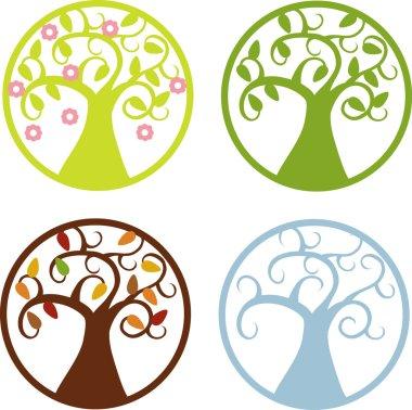 color vector four seasons symbols