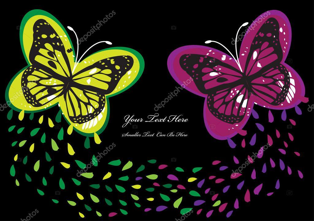 Astratto Sfondo Pallavolo Disegno Vettoriale: Sfondo Astratto Vettoriale Con Farfalle Colorate