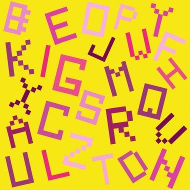 Vector illustration of alphabet letters