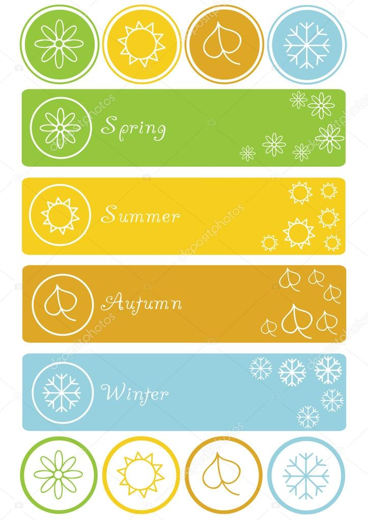 Set of four seasons symbols