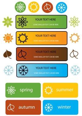Set of vector season symbols