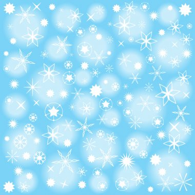Abstract vector christmas wrapping paper design with snow flakes