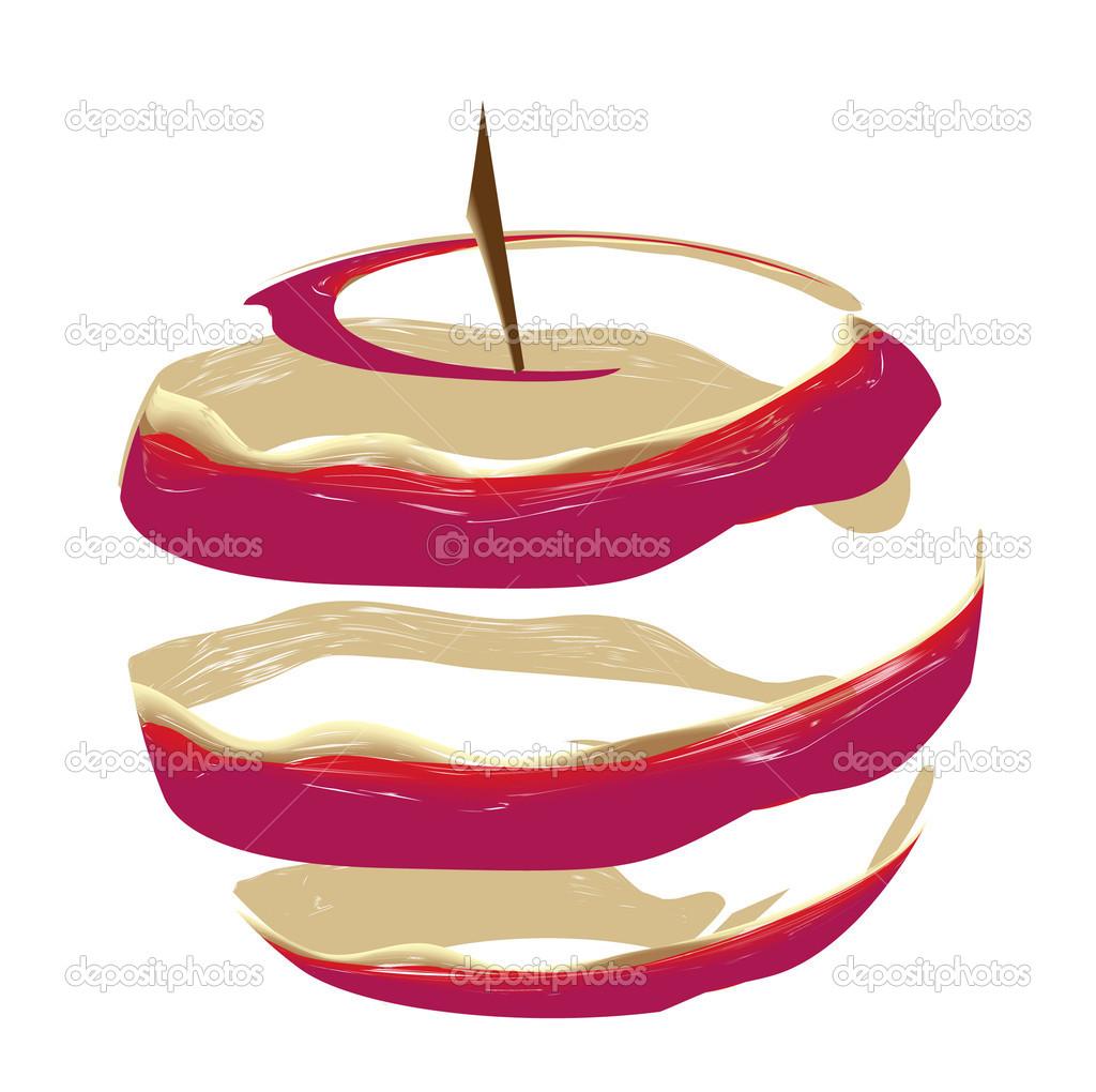 Ilustración de vector de color de piel de manzana roja — Archivo ...