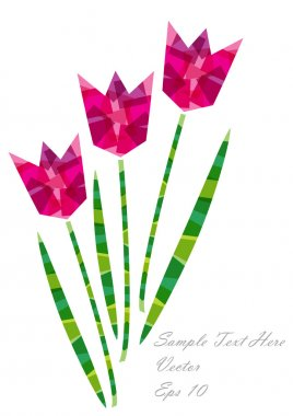 Color vector paper flowers background