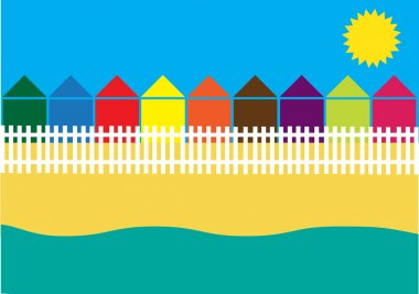 Color vector summer holidays background
