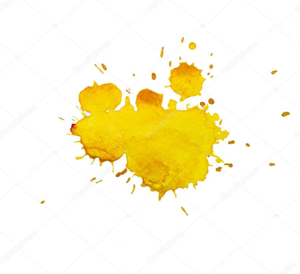 tache aquarelle jaune photographie undrey 23758079. Black Bedroom Furniture Sets. Home Design Ideas
