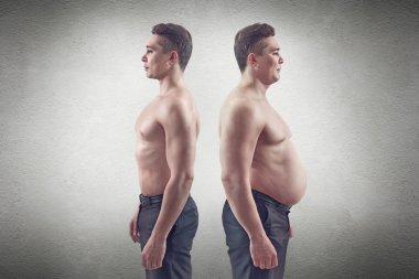 Fat and thin man