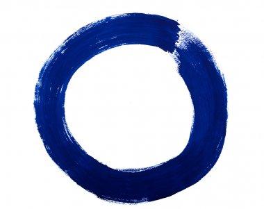 Watercolor abstract circle
