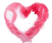 akvarell szív. koncepció - szerelem, kapcsolat, művészet, festészet