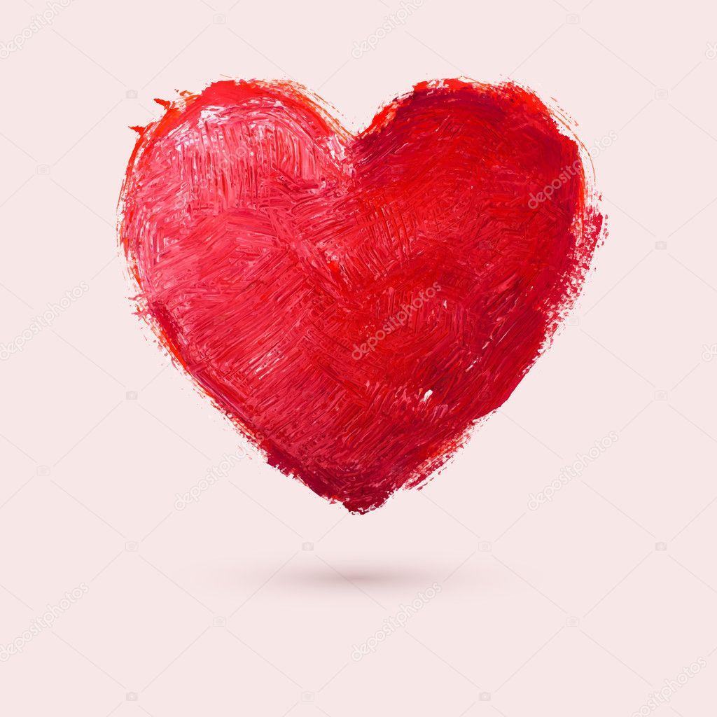 Watercolor heart, vector illustration clipart vector