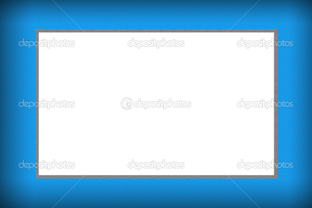diseño de color azul marco para foto — Fotos de Stock ...