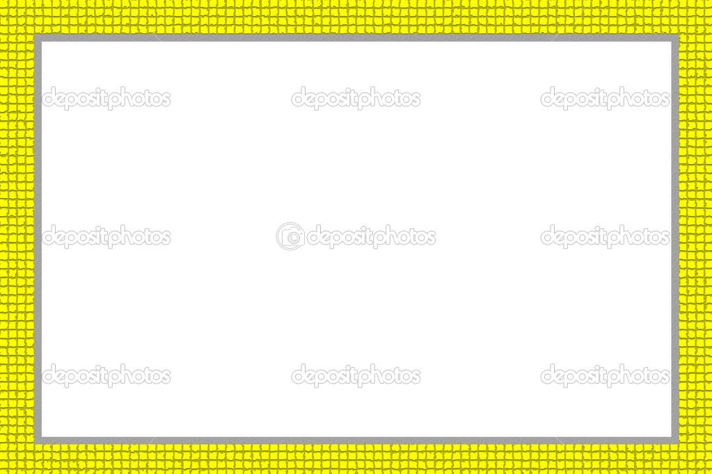 diseño de color amarillo del marco para el cuadro — Fotos de Stock ...