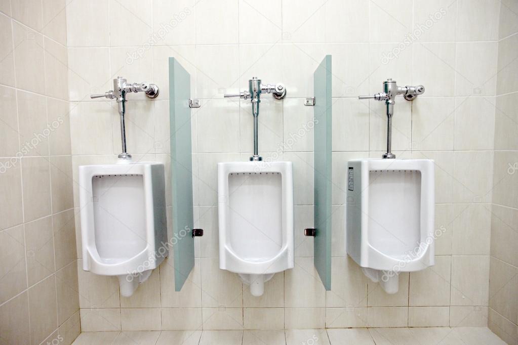 Gentil Urinals In Menu0027s Bathrooms. U2014 Stock Photo