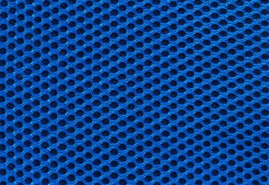 Blue fabric texture with holes in high resolution