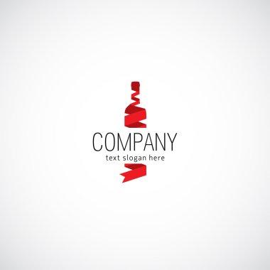 Wine concept business company logo