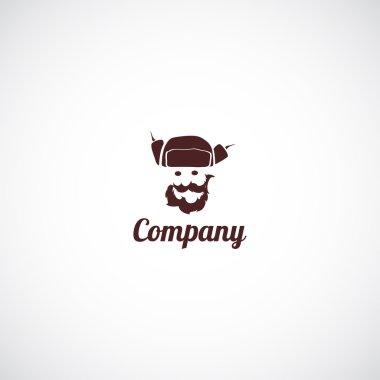 Man in hat ushanka business company logo