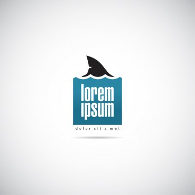 Shark logo template