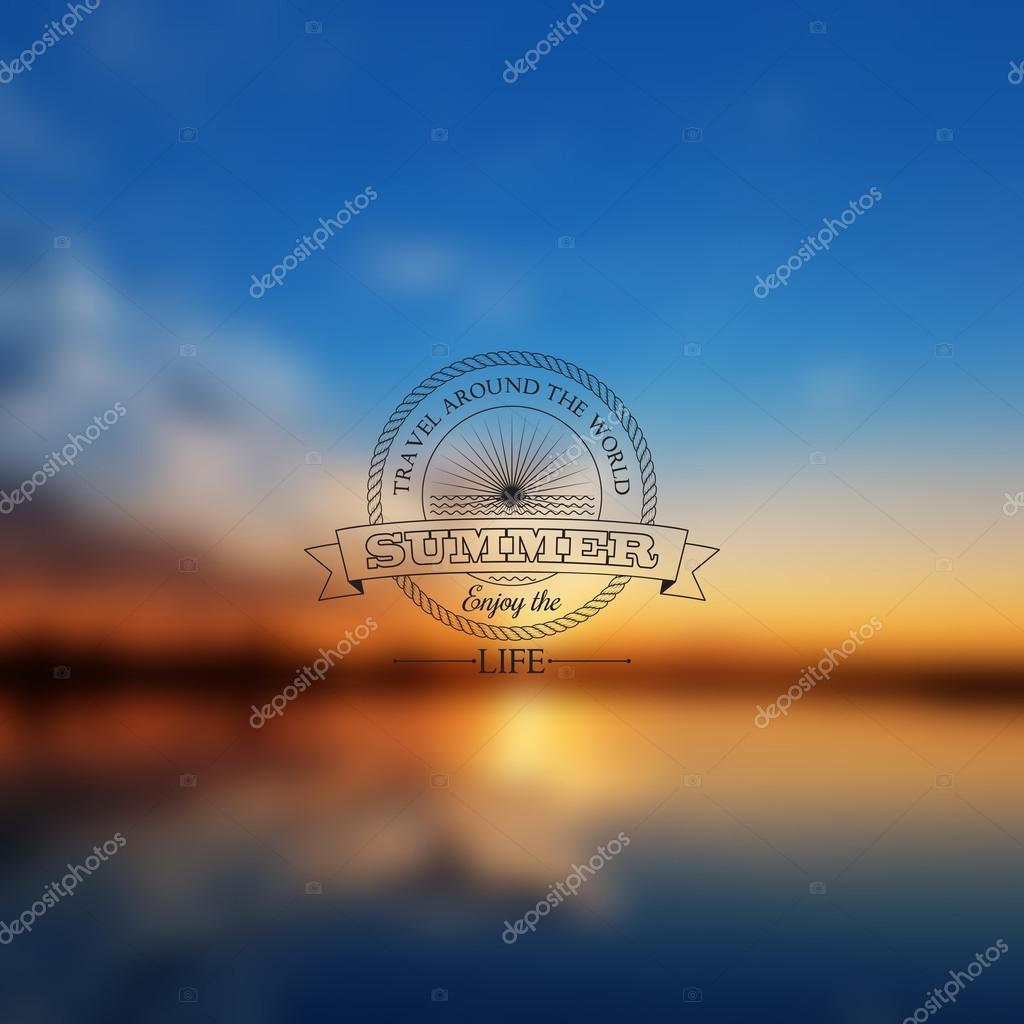 Vector abstract background blur