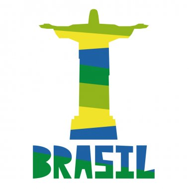 Brazil Stylish Illustration Isolated On Background