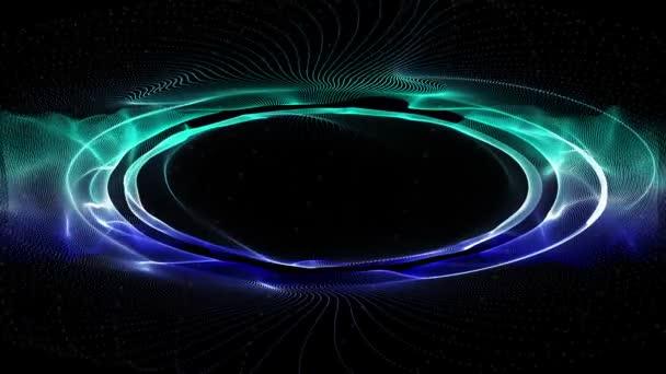 leistungsstarke Videoanimation mit beweglichem Teilchenwellen-Objekt, Schleife hd 1080p