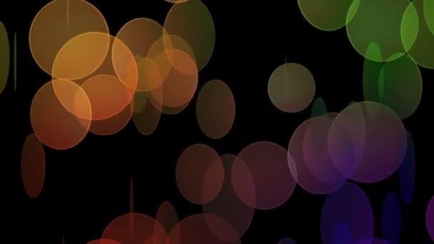 nádherné video animace s pohyblivými bubliny, smyčka hd 1080p