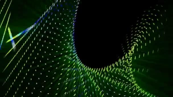 futuristické technologie video animace s pohybující se objekt a světla, smyčka hd 1080p
