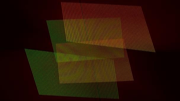 futuristické technologie video animace s pohyblivými objekty a světla, smyčka hd 1080p