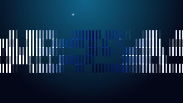 futuristische Technologie Videoanimation mit hellem Hintergrund in Bewegung, Schleife hd 1080p