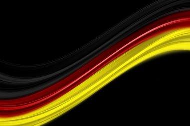 Illustrated German flag for sport events