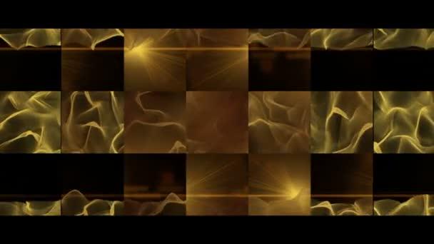 fantastické video animace s vlnou objektu a světla v pohybu, smyčka hd 1080p