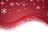 Fantastické vánoční vlnu design s sněhové vločky a prostor pro váš text