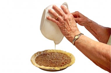 Great Great Grandma Makes A Pecan Pie