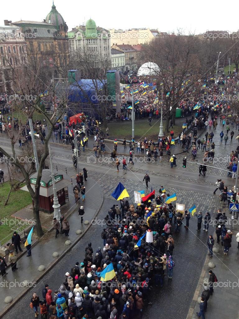 lviv ukraine revolution stock editorial photo papajack23